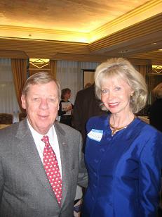 Gloria Jean Hecking with Johnny Isakson