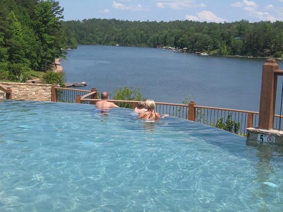 Chimney Cove-Infinity pool overlooking lake