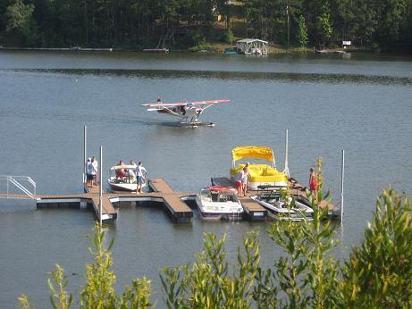 Chimney Cove-lake photo with airplane